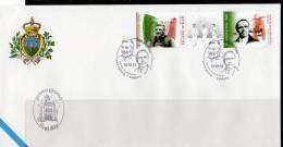 FDC SAN MARINO MAÎTRES DES LIBERTÉS FILIPPO TURATI - GIACOMO MATTEOTTI FACIAL 4.38 Eu. - Celebridades