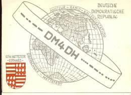 QSL - QTH Kaart - Amateur Radio DDR - Hettstedt Sudharz 1963 - Cartes QSL
