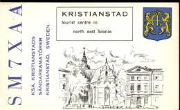 QSL -  Kaart - Amateur Radio Kristianstad Sweden 1965 - Cartes QSL