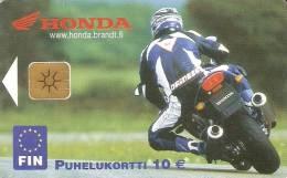 TARJETA DE FINLANDIA DE UNA MOTO HONDA (MOTO-MOTORBIKE) - Motos