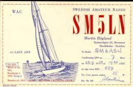 QSL -  Kaart - Amateur Radio - Martin Hogland Bromma Stockholm  Sweden 1955 - Cartes QSL