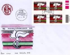 FDC N.M - CARABINIERI  NAS  2012 SU BUSTONE   -   DIPINTO A MANO - - 6. 1946-.. República