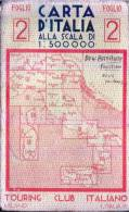 CARTA D´ITALIA -T.C.I. - Anno 1943 -  - Foglio 2 - Mappe