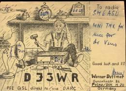 QSL -  Kaart - Amateur Radio GDR - Werner Dettmer Peine 1958 - Cartes QSL