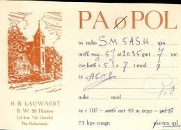 QSL -  Kaart - Amateur Radio Nedeland - Lauwaert Houten Utrecht 1957 - Cartes QSL