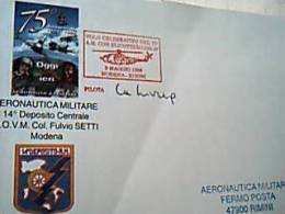 75° AERONAUTICA MILITARE  MODENA 1998 ANNULLO VOLO A M. CON ELICOTTERO HH 3F MODENA RIMINI  Busta  Numerata 2/800 EB9371 - Elicotteri