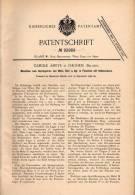 Original Patentschrift - Camille Ameye In Iseghem , 1896 , Maschine Für Wein Und Bier !!! - Machines
