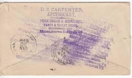 1049. USA, 1888, Letter - 1847-99 Emissions Générales