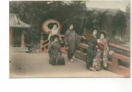 Ab - Belle Cpa Japon (femmes Japonaises)  Envoyée De Kobe - Kobe