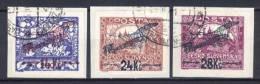 Tschecheslowakei [c0093a]  Luftpost Satz Mi# 192-194 Gestempelt Auf Papier - Usados