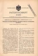 Original Patentschrift - Alois Ritter Von Descovich In Montignano , Istrien , 1895 , Kehrmaschine , Straßenkehrer !!! - Macchine