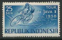 Indonesia Indonesie 1958 Mi 229 * Gum Broken - Racing Cyclist - Tour Of Java Cycle Race / Radrennen / Wielrennen - Wielrennen