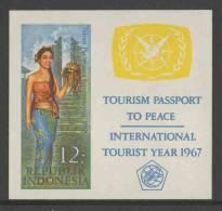 Indonesia Indonesie 1967 B7 Mi 584 B * MH - Balinese Girl – Int. Tourist Year / Balinesisches Mädchen Mit Früchteschale - Vakantie & Toerisme
