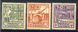1946 Germany Provinz Sachsen MH Complete Set Of 3 - Soviet Zone