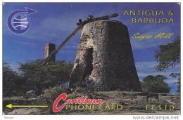 Antigua, ANT-6A, EC$ 40,  Sugar Mill, 6CATA, 2 Scans. - Antigua And Barbuda
