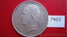 Belgica 5 Francos De Plata 1850  Belgique , Belgium Silver Argent - Monedas