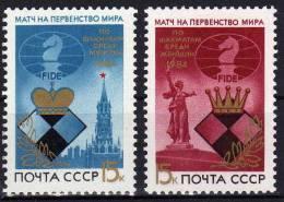 Schach-Championat Herren Moskau 1984 Sowjetunion 5431 Plus 5432 ** 1€ Damen-WM In Wolgograd Chess Set Of USSR CCCP SU - Chess