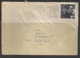 1991 100pf Leber On Hamm, Fancy Cancel, (14.11.91) To Czechoslovakia - [7] Repubblica Federale