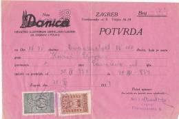 CROATIA  -   3 X RACUN   ,,  DANICA ,,  -  1934  Tax Stamps - Rechnungen
