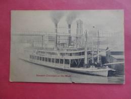 Steamer Cincinnati  At The Warf- Pub. Kramer Art Co  Ca 1910=  = = =   ===ref 753