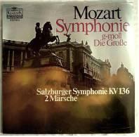 LP Mozart Symphonie , G-moll Divertimento D-Dur / Die Große Salzburger Symphonie Kv 136 - 2 Märsche - Klassik