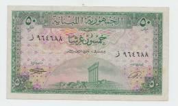 Lebanon 50 Piastres 1950 VF+ RARE Banknote P 43 - Lebanon