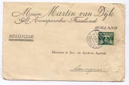 Pays - Bas : Yvert 135 A Sur Lettre De La Maison Martin Van DijK St Annaparochie Vers La Belgique En 1933 - Poststempel