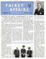 FAIREY AFFAIRS - November 1945 - Avions FAIREY - (SONACA)       (2883) - Magazines & Papers