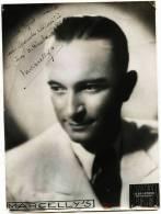 - MARCELLY (Marcel Jules Turmel ) Chanteur -1882-1966 -  DEDICACEE Datée 3.12. 1943 -Photo De Jean LEMOSSE - MONTARGIS - Foto Dedicate