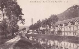 CPA 25  DELUZ ,le Canal Et La PAPETERIE. (1918) - Autres Communes