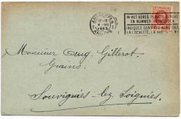 Belgique : 192 Sur Document Antwerpen - Louvignies 1925 - 1922-1927 Houyoux