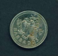 BARBADOS  -  2004  25 Cents  Circulated As Scan - Barbados
