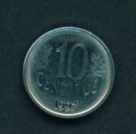 BRASIL  -  1997  10 Centavos  Circulated As Scan - Brazil