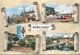 CARTE POSTALE PHOTO ORIGINALE MULTIVUES DENTELEE :  HOMECOURT ; BLASON ; MEURTHE ET MOSELLE (54) - Autres Communes