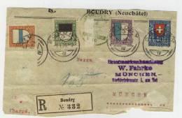 Schweiz Michel No. 175 , 178 gestempelt used auf Briefvorderseite