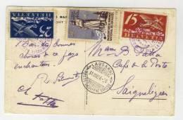 Schweiz Michel No. 179 , 180 gestempelt used auf Karte