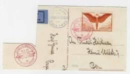 Schweiz Michel No. 190 x gestempelt used auf Kartenausschnitt / Zeppelinpost