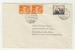 Schweiz Michel No. 387 , 530 gestempelt used auf Brief