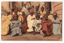 AFRICA SIERRA LEONE SCHOOL CHILDREN OLD POSTCARD - Sierra Leone
