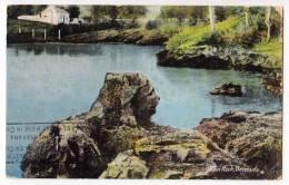AMERICA ANTILLES BERMUDA LION ROCK OLD POSTCARD 1934. - Bermuda