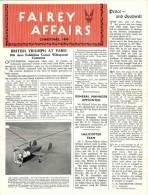 FAIREY AFFAIRS - Christmas 1946 - Avions , Bateaux  FAIREY - (SONACA)       (2885) - Magazines & Papers