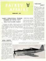 FAIREY AFFAIRS - February 1947 - Avions FAIREY - (SONACA)       (2886) - Revistas & Periódicos