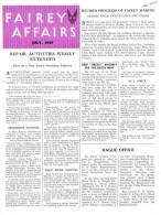 FAIREY AFFAIRS - July 1947 - Avions, Bateaux  FAIREY - (SONACA)        (2887) - Revistas & Periódicos