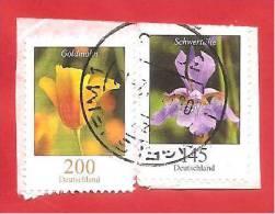 GERMANIA - GERMANY - 2006 - FRAMMENTO - FIORI - FLOWERS - 145 C. E 200 C. - ANNULLO TONDO - Usati