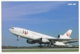 TRANSPORT AIRPLANES DC-10 JAL JAPAN AIRLINES JAPAN BIG POSTCARD - 1946-....: Moderne