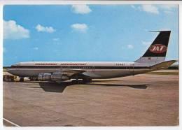 TRANSPORT AIRPLANES BOEING 707 JAT JUGOSLAV AIRLINES YUGOSLAVIA BIG POSTCARD - 1946-....: Moderne