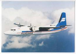 TRANSPORT AIRPLANES FOKKER 50 FLUGLEĐIR BIG POSTCARD - 1946-....: Moderne