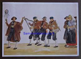 Ansichtskarte Sudetendeutsches Hilfswerk Trachten Gel. 1939 Hochzeitszug. - Trachten