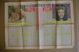 """C0886 - CALENDARIO Per Mezzo Secolo 1952 - 2001 Inserto """"Tribuna Illustrata"""" - Calendari"""