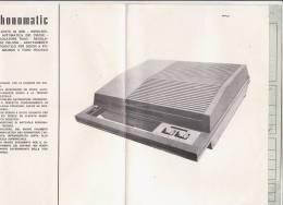 C0951 - ISTRUZIONI E GARANZIA GIRADISCHI PHONOMATIC DISCHI 45 GIRI 1971 - Scienze & Tecnica